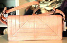 CHANEL Pink Quilted Lambskin Leather Rectangle Pochette Small Shoulder Bag