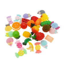 20 pcs Resin Fruits Charms Earrings Pendants Jewelry Findings DIY Crafts Mix