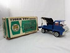Rare Vintage Original Blue Tiger Toy Mighty Wrecker with Box Tin Toy