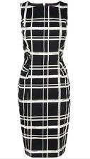 BNWT Phase Eight /8 Greta Checked Dress Black / Ivory Size 16