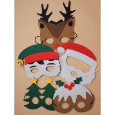Surtido Pack de Peluche Fieltro Navidad Máscaras Disfraz Fiesta Navidad