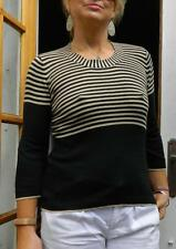 VINTAGE Blue Illusion Groovy Boho Effortlessly Chic Retro Striped Knit Sweater