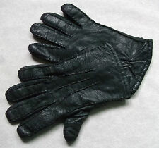 Vintage Gloves WOMENS Leather Retro BLACK