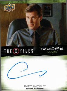 Upper Deck X-Files UFOs & Aliens Cary Elwes Brad Follmer Auto Autograph