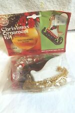 Vintage Walco Christmas Ornament Kit # 3453 Old Fashoned Sleigh (misspelled)