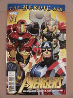 Avengers #1 Marvel Comics 2010 Series Bendis Romita 9.6 Near Mint+