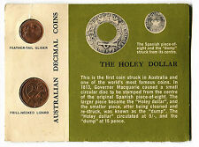 1966 Uncirculated 1 cent and 2 cent set in Green Card.
