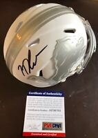 N'Keal Harry ASU Authentic Signed Lions Speed Ice Mini Helmet PSA/DNA COA