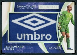 2020 PANINI IMMACULATE SOCCER TIM HOWARD EVERTON PATCH ONE OF ONE 1/1 JERSEY