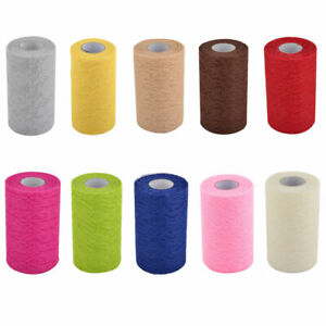 Household Party Lace Banquet Hall DIY Decor Tulle Spool Roll 6 Inch x 25 Yards