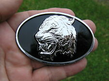 ~ CATS HEAD CHROME CAR EMBLEM Suit JAGUAR Metal Badge *NEW & UNIQUE GROWLER