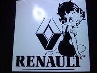 Betty Boop renault clio megane girls vinyl car sticker novelty fun decal graphic