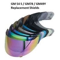 Gmax GM54S GM78 GM49Y Helmet Replacement Shield Clear Full Down Fullface