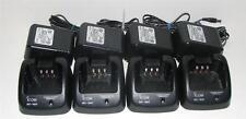 Four BC-160 Rapid Chargers For Icom Radios : IC F14 F24 F3011 F3021 F43 F9011