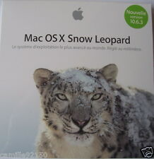 DVD OS X 10.6.3 Snow Leopard Installation COMPLETE Box NEW STOCK FRANCE