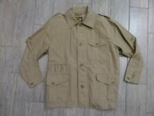 vintage OUTBACK RED poplin cotton SAFARI shirt jacket MEDIUM khaki geiger