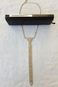 GLAMOROUS Women's Rhinestone Necktie Pendant Necklace Shiny Collar Choker. New!
