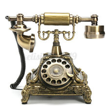 Retro FSK/DTMF Vintage Haustelefon Antik Tischtelefon Nostalgie Tisch Telefon +A