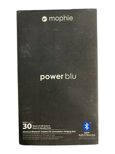 Mophie Power Blu Bluetooth Headset For iPhone & Samsung - Black