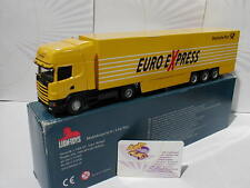 "Lion-Toys Werbemodell # Scania 530 "" Deutsche Post Euro Express "" in gelb 1:50"