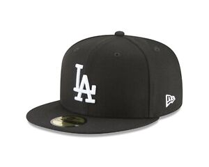 Los Angeles Dodgers New Era MLB Basic Black & White 59fifty Fitted Hat