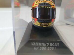 RARE MINICHAMPS VALENTINO ROSSI AGV HELMET GP 500 2001