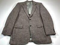 Harris Tweed Men's 42L Gray Speckled Sport Coat 2 Button Blazer