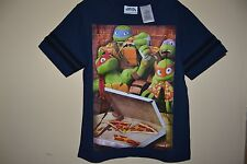 NINJA TURTLES/OUT OF THE SHADOWS-BOYS SIZE 5/6-PIZZA-LICENSED SHORT SLEEVE-NWOT