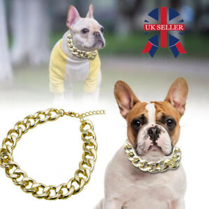 Gold Puppy Chain Necklace Pet Small Dog Necklace Collar Jewelry Neck Pet Toy Hot
