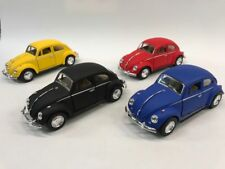 "4 PC Set New 5"" Kinsmart 1967 VW Volkswagen Beetle Matte Diecast Model Toy 1:32"