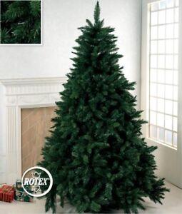 Albero di Natale 180 210 230 270 300 cm super folto realistico Pino verde Rotex