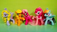 "5 G4 My Little Pony MLP Brushable 2"" Inch Rare Horse Bundle Mini Ponies Unicorn"