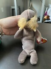 1996 Ty Jolly Walrus beanie baby style 4082 with swing/tush tags Many Errors!