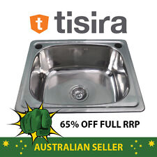 Tisira 45 Litre Single Bowl Laundry Tub Sink (TLLE45) with Bypass & Waste Kit