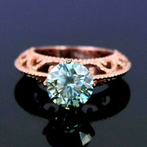 3.70 Ct Certified Light Blue Diamond Ring with Designer Band, WATCH VIDEO
