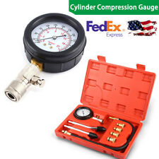 Petrol Gas Engine Compression Cylinder Compression Tester Gauge 300 PSI US Ship