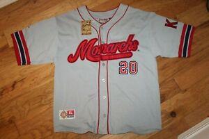 NWT NLBM Negro League Baseball Big Boy Headgear Jersey Kansas City Monarchs XL