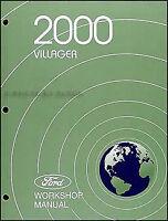 2000 Mercury Villager Original Repair Shop Manual GS LS Workshop Service Book
