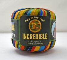 Lion Brand Incredible Nylon Ribbon Yarn - 1 Skein Color City Lights #203