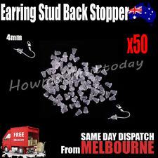 50x Rubber Earring Stud Dangler Back Stoppers Ear Post Nuts Findings 4mm