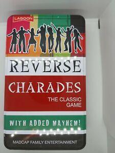 Reverse Charades, family game, madcap family entertainment