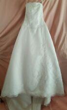 David's Bridal Michelangelo Size 6 Strapless Corset Train Organza Wedding Gown
