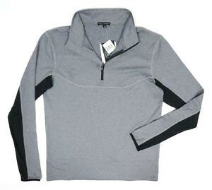 NWT MENS FEATS OF STRENGTH 1/2 ZIP ATHLETIC TRACK PULLOVER TRAINING SHIRT SIZE M