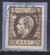 Romania Scott 47 Used VF on piece  (Catalog Value $47.50)
