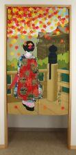 Noren Japanese hanging cloth curtain Kyoto Maiko Kiyomizu Ukiyo-e  150 x 85 cm