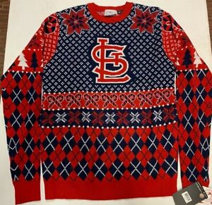 Klew MLB St. Louis Cardinals Holiday Christmas Sweater, Size Small