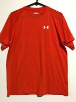 Men's Orange Under Armour Heat Gear Loose Fit T-Shirt. Size Small