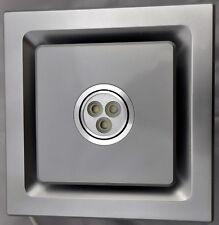 Bathroom Exhaust Fan  SILENT SERIES , 85 CFM, LED LIGHT,Silver Color,CEILING FAN