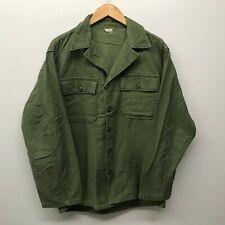 Vintage OG107 Fatigue Shirt, Size Medium US Army 1960's J-61