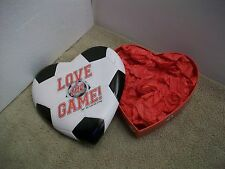 valentine heart shaped empty box by galerie soccer fun love the - Soccer Valentine Box